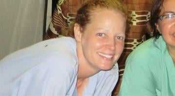 Kaci Hickox (far left) from her time in  Sierra Leone. By Courtesy Kaci Hickox