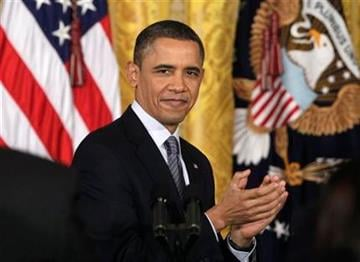 President Barack Obama applauds in the East Room of the White House in Washington, Tuesday, Feb. 15, 2011, during a 2010 Presidential Medal of Freedom ceremony. (AP Photo/Carolyn Kaster) By Carolyn Kaster