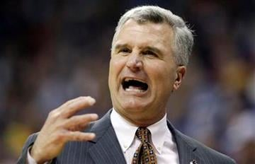 Illinois head coach Bruce Weber reacts against the Kansas during the first half of a Southwest Regional NCAA tournament third-round college basketball game on Sunday, March 20, 2011, in Tulsa, Okla. (AP Photo/Charlie Riedel) By Charlie Riedel