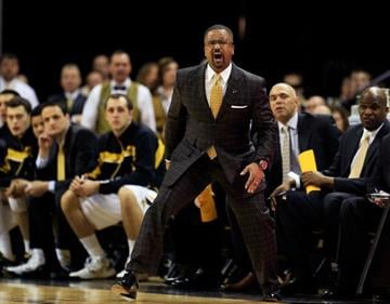 COLUMBIA, MO - MARCH 05:  Head coach Frank Haith of the Missouri Tigers reacts during the game against the Arkansas Razorbacks at Mizzou Arena on March 5, 2013 in Columbia, Missouri.  (Photo by Jamie Squire/Getty Images) By Jamie Squire