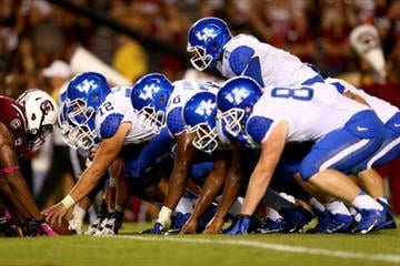COLUMBIA, SC - OCTOBER 05:  The Kentucky Wildcats during their game at Williams-Brice Stadium on October 5, 2013 in Columbia, South Carolina.  (Photo by Streeter Lecka/Getty Images) By Streeter Lecka