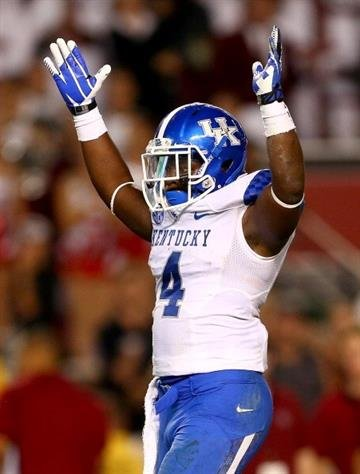 COLUMBIA, SC - OCTOBER 05:  Raymond Sanders #4 of the Kentucky Wildcats during their game at Williams-Brice Stadium on October 5, 2013 in Columbia, South Carolina.  (Photo by Streeter Lecka/Getty Images) By Streeter Lecka