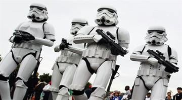 LONDON - JULY 02:  Storm Troopers pose for a picture at 'The Amazing Great Children's Party' in Battersea Park on July 2, 2008 in London, England.  (Photo by Dan Kitwood/Getty Images) By Dan Kitwood
