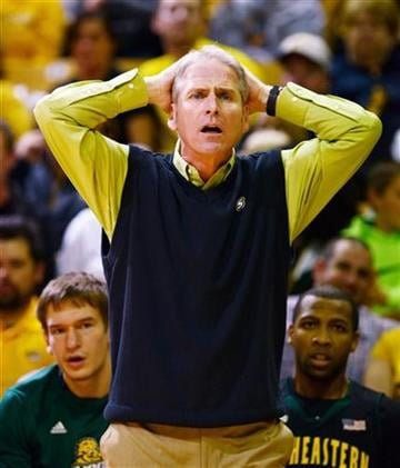Southeastern Louisiana head coach Jim Yarbrough argues a call during the first half of an NCAA college basketball game against Missouri, Friday, Nov. 8, 2013, in Columbia, Mo. Missouri won 89-53. (AP Photo/L.G. Patterson) By L.G. Patterson