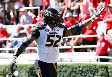 ATHENS, GA - OCTOBER 12:  Michael Sam #52 of the Missouri Tigers recovers a fumble for a touchdown against the Georgia Bulldogs at Sanford Stadium on October 12, 2013 in Athens, Georgia.  (Photo by Kevin C. Cox/Getty Images) By Kevin C. Cox
