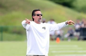 St. Louis Rams head football coach Jeff Fisher gives direction during training camp at the team practice facility in Earth City , Missouri on July 29, 2013.   UPI/Bill Greenblatt By BILL GREENBLATT