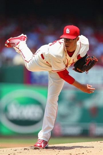 ST. LOUIS, MO - JULY 6: Starter Joe Kelly #58 of the St. Louis Cardinals pitches against the Miami Marlins at Busch Stadium on July 6, 2013 in St. Louis, Missouri. (Photo by Dilip Vishwanat/Getty Images) By Dilip Vishwanat