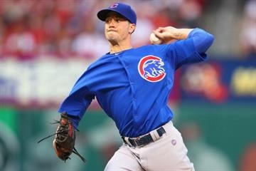 ST. LOUIS, MO - AUGUST 9: Starter Chris Rusin #18 of the Chicago Cubs pitches against the St. Louis Cardinals at Busch Stadium on August 9, 2013 in St. Louis, Missouri.  (Photo by Dilip Vishwanat/Getty Images) By Dilip Vishwanat