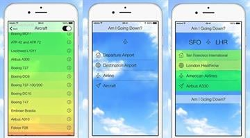 "New app ""Am I Going Down?"" uses aviation to analyze the odds a flight will crash. By Stephanie Baumer"