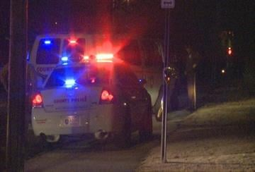 Police on the scene of a shooting in Glasgow Village Monday night. By Jasmine Brown