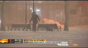 The snow continues to fall in the Boston, MA area. By CBS