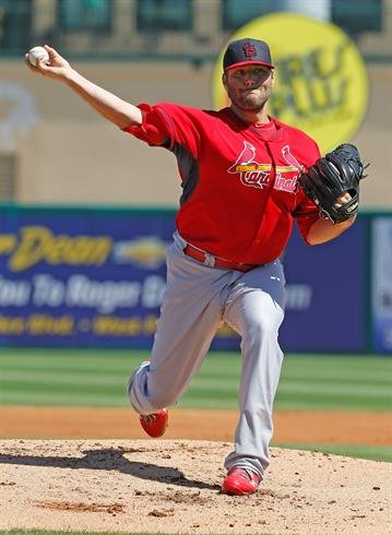 JUPITER, FL - MARCH 1: Lance Lynn #31 of the St Louis Cardinals throws the ball against the Miami Marlins during a spring training game at Roger Dean Stadium on March 1, 2014 in Jupiter, Florida. (Photo by Joel Auerbach/Getty Images) By Joel Auerbach