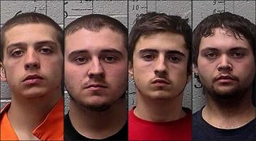 Dallas Halter, 18, William Carrico, 19, Adam Moore, 19, and Maxwell Lee, 24, were all arrested in connection with a fatal St. Francois fire that killed Halter's parents. By Brendan Marks