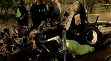 A FedEx truck crossed a median and slammed head-on into a bus carrying students in Northern California, killing 10 people, authorities said Friday. By Brendan Marks