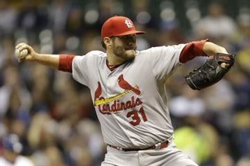 MILWAUKEE, WI - APRIL 14: Lance Lynn #31 of the St. Louis Cardinals pitches during the first inning against the Milwaukee Brewers at Miller Park on April 14, 2014 in Milwaukee, Wisconsin. (Photo by Mike McGinnis/Getty Images) By Mike McGinnis