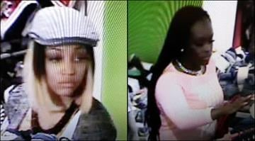 Police say one suspect (right) is in custody after a robbery and kidnapping at Chesterfield Mall on March 21. Her alleged accomplice,  22-year-old Cierra Baker (left), remains at large. By Brendan Marks