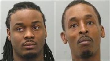 Kelvin Dorries (left), 26, faces charges after police say he tried to run over an officer during an undercover drug bust. Travis Bradley (right) was also arrested in the case. By Brendan Marks