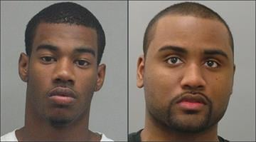 A robbery suspect shot and killed by a police officer at the Gravois Bluffs shopping center in Fenton on Wednesday has been identified as 23-year-old Claudell Webb Jr. (left). Jabari Quarles (right) has been charged in the case. By Brendan Marks