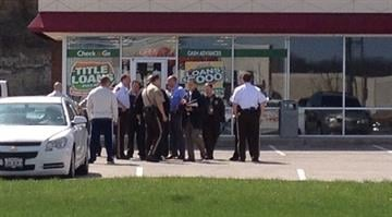 According to police, a witness called authorities around 10:30 a.m. after seeing two men acting suspiciously in the parking lot of the Check N' Go in the 600 block of Gravois Bluffs Rd. By Brendan Marks