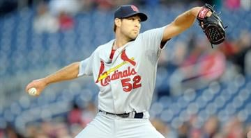 WASHINGTON, DC - APRIL 18: Michael Wacha #52 of the St. Louis Cardinals pitches in the first inning against the Washington Nationals at Nationals Park on April 18, 2014 in Washington, DC.  (Photo by Greg Fiume/Getty Images) By Greg Fiume
