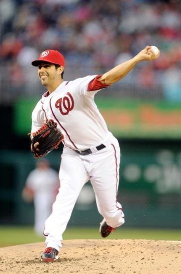 WASHINGTON, DC - APRIL 18:  Gio Gonzalez #47 of the Washington Nationals pitches in the second inning against the St. Louis Cardinals at Nationals Park on April 18, 2014 in Washington, DC.  (Photo by Greg Fiume/Getty Images) By Greg Fiume