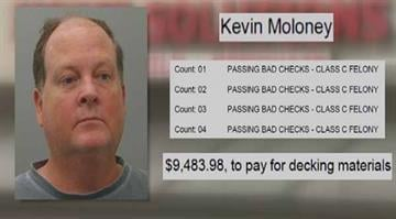 Malone is facing four counts of passing bad checks after he allegedly used them to pay for decking material at a Kirkwood business By KMOV.com Staff