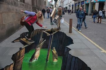 [1/4] This amazing 3D street art was created by UK company Street Advertising Services. But when it came to expanding the company, local banks didn't seem to grasp its business plan ... By From Street Advertising Services
