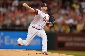ST. LOUIS, MO - SEPTEMBER 21: Lance Lynn #31 of the St. Louis Cardinals pitches against the Cincinnati Reds int the first inning at Busch Stadium on September 21, 2014 in St. Louis, Missouri.  (Photo by Michael B. Thomas/Getty Images) By Michael B. Thomas