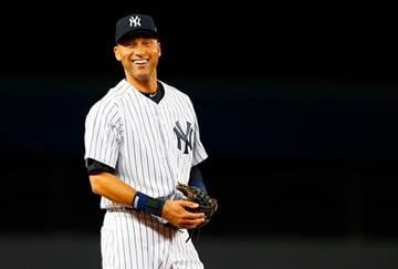 NEW YORK, NY - SEPTEMBER 22:  Derek Jeter #2 of the New York Yankees smiles prior to a game against the Baltimore Orioles at Yankee Stadium on September 22, 2014 in the Bronx borough of New York City.  (Photo by Mike Stobe/Getty Images) By Mike Stobe