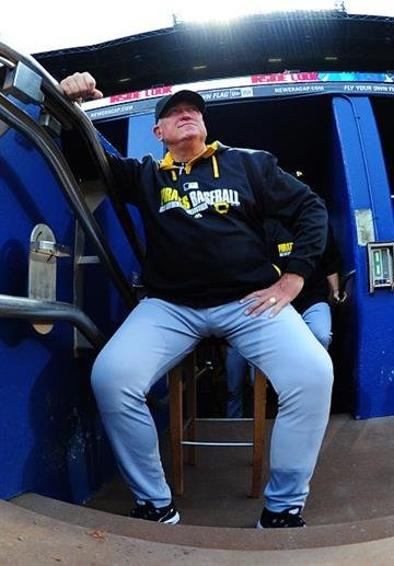 ATLANTA, GA - SEPTEMBER 24: Manager Clint Hurdle #13 of the Pittsburgh Pirates gets ready for the game against the Atlanta Braves at Turner Field on September 24, 2014 in Atlanta, Georgia. (Photo by Scott Cunningham/Getty Images) By Scott Cunningham