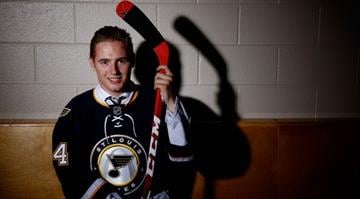 PHILADELPHIA, PA - JUNE 28:  Ivan Barbashev of the St. Louis Blues poses for a portrait during the 2014 NHL Draft at the Wells Fargo Center on June 28, 2014 in Philadelphia, Pennsylvania.  (Photo by Jeff Zelevansky/Getty Images) By Jeff Zelevansky