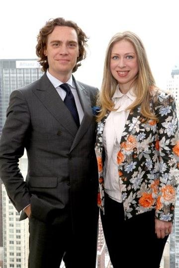 NEW YORK, NY - MAY 28:  Jay Fielden and Chelsea Clinton attend the Town & Country Inaugural Philanthropy Summit at Hearst Tower on May 28, 2014 in New York City.  (Photo by Astrid Stawiarz/Getty Images for Town & Country) By Astrid Stawiarz