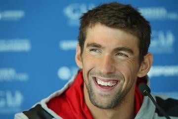 GOLD COAST, AUSTRALIA - AUGUST 20:  Michael Phelps speaks to media during the Team USA squad press conference at the Gold Coast Aquatics Centre on August 20, 2014 in Gold Coast, Australia.  (Photo by Chris Hyde/Getty Images) By Chris Hyde