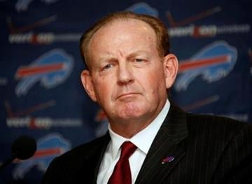 Chan Gailey listens to a question after being introduced as the Buffalo Bills new head coach during an NFL football news conference in Orchard Park, N.Y., on Tuesday, Jan. 19, 2010. (AP Photo/ David Duprey) By David Duprey