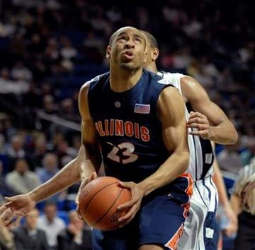 Illinois' Dominique Keller looks to the basket in second half  of an NCAA college basketball against Penn State in State College, Pa. Wednesday, Jan. 27, 2010. Illinois won 77-67.  (AP Photo/Ralph Wilson) By Ralph Wilson