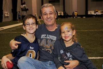 The All Pro Dad's Father and Kids Experience was held at the Rams Training Center on 11/17/12. The three-hour event allowed dads to have a unique opportunity to spend time with their children by participating in games. By KMOV Web Producer