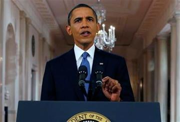 President Barack Obama delivers a televised address from the East Room of the White House in Washington, Wednesday, June 22, 2011 on his plan to drawdown U.S. troops in Afghanistan. (AP Photo/Pablo Martinez Monsivais, Pool) By Pablo Martinez Monsivais