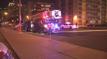 The scene of an overnight pedestrian accident in downtown St. Louis. By Stephanie Baumer
