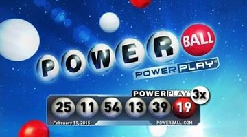 This graphic depicts the winning Powerball numbers for the drawing on Wednesday, Feb. 11, 2015. By Multi-State Lottery Association