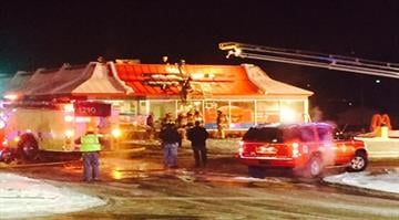 Crews were able to quickly extinguish the fire at the McDonald's on Old Smizer Station Road and Highway 141 before 10:45 p.m. By Stephanie Baumer