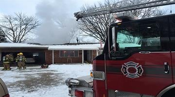 Irvin Wessler, 93, was asleep inside his home on Elmwood Court when his roof caught fire just before 7:00 a.m. By Stephanie Baumer