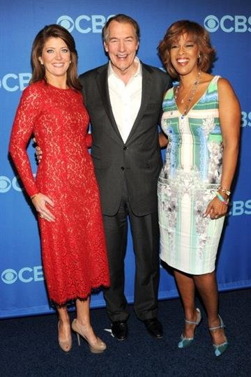 NEW YORK, NY - MAY 15:  (L-R) Journalists Norah O'Donnell, Charlie Rose and Gayle King attend CBS 2013 Upfront Presentation at The Tent at Lincoln Center on May 15, 2013 in New York City.  (Photo by Ben Gabbe/Getty Images) By Ben Gabbe