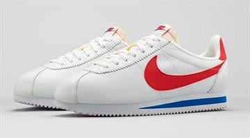 "Nike is bringing back some vintage kicks from the pre-Jordan era: the Classic Cortez running shoes that were a hit in the 70's and worn in the 1994 feel-good flick ""Forrest Gump."" By Stephanie Baumer"