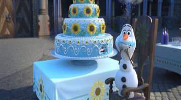 "Still photo from Disney's animated short ""Frozen Fever"" By Disney"