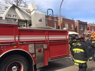 A two-story home in the 3500 block of Pennsylvania caught fire around 11:30 a.m. Wednesday. By Stephanie Baumer