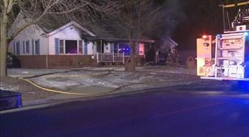 Three area fire departments work to extinguish flames at this Glen Carbon, Ill home. By KMOV
