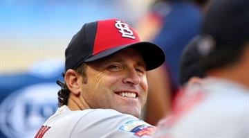 MINNEAPOLIS, MN - JULY 15: National League All-Star Manager Mike Matheny of the St. Louis Cardinals looks on during the 85th MLB All-Star Game at Target Field on July 15, 2014 in Minneapolis, Minnesota.  (Photo by Elsa/Getty Images) By Elsa