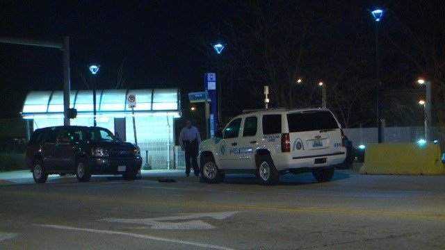 Police investigate a scene that involved one teen girl being grazed by a bullet near the Pageant in the Delmar Loop and a MetroLink station.