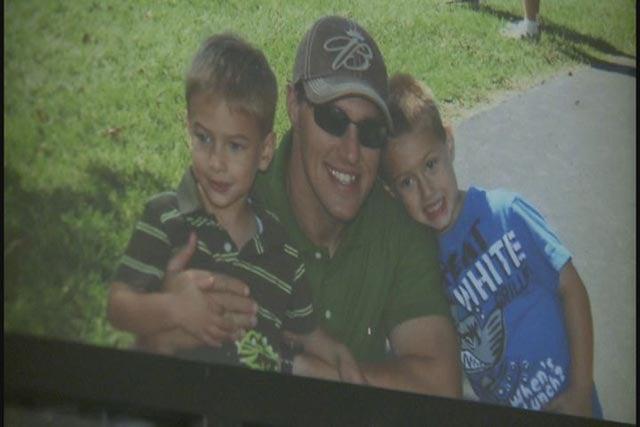 Trooper Potocki with his sons