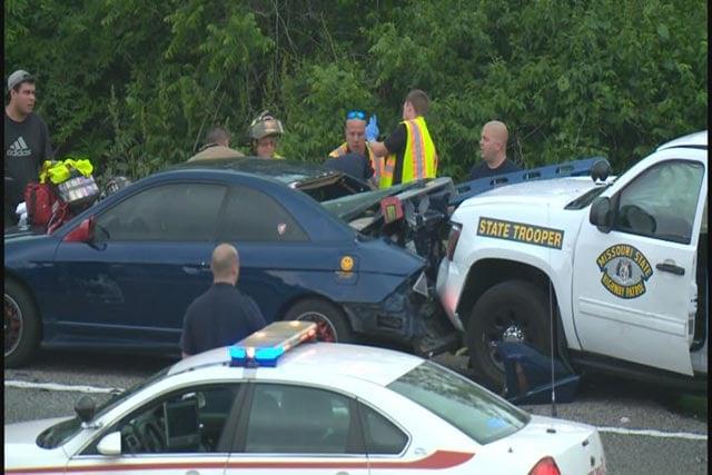 Crash scene from May 2014 of Trooper Potocki